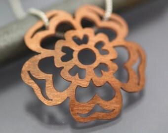Tudor Rose Necklace Handmade in Copper
