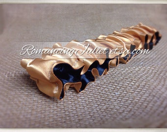 The Original Fully Reversible Bridal Garter..You Choose The Colors..shown in gold/black