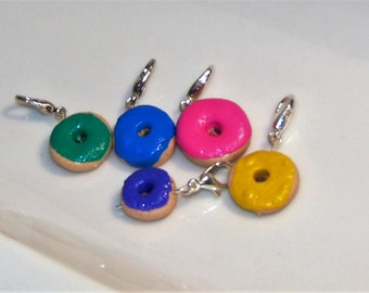 Pastel Donuts- Set of 5 Stitch Markers