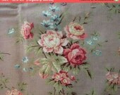 On SALE - Beautiful Antique Fabric French Cotton Barkcloth