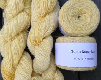 North Ronaldsay yarn, 225m/50gram, hand dyed Vanilla
