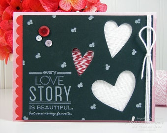 Love Story Handmade Valentine's Day Card