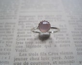20 Percent off SALE Rose Cut Pink Chalcedony and Sterling Silver Ring