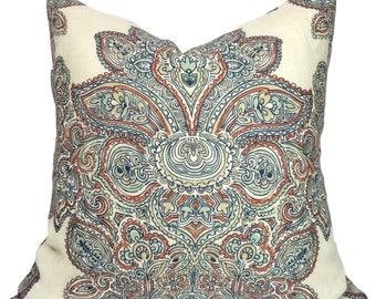"""Sale - Pillow Cover -  Maris in Multi Paisley - Throw Pillow 20"""" x 20"""""""