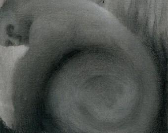 Original mixed media drawing - Untitled 141026