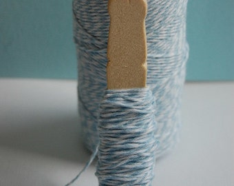 20 Yards Shore Baby Blue Bakers Twine on a Clothespin--Crafts-Bake Sale Supplies-Packaging Twine-Gift Wrap Twine-Tags-Favors-Ready to Ship