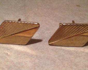Parallelogram Goldtone Cuff Links