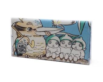 Passport wallet - May Gibbs Gumnut Town - Kookaburra vintage fabric