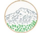 Seattle's Mount Rainier Embroidery Kit
