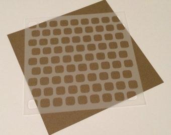 Square 5 inch stencil - Squares 2