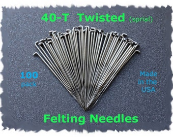 Twisted Spiral Needle Felting Needles 40T - 100 from Dream Felt