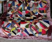 Antique Silk, Valvet & Satin Crazy Quilt