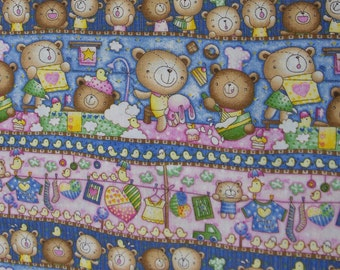 Teddy Bear Fabric by Fabri-Quilt (by the yard) Hard to Find!
