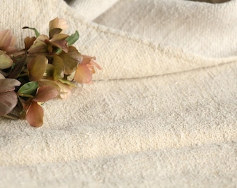 c 768 antique handloomed PALE NATURAL chunky grain sack for pillows cushions runners 18.9 wide