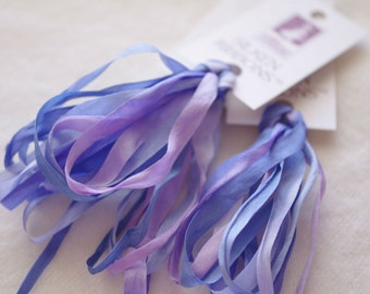 Silken Ribbons 7mm by The ThreadGatherer. SR7 Forget Me Not.