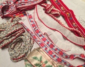 Vintage red woven trims