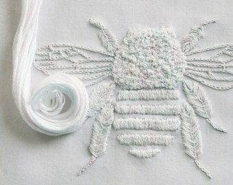 Crewel Embroidery Kit  DIY Pattern pdf  Garden embroidery, bumblebee embroidery pattern, bee needlecraft kit, bee pattern,  Prairie Garden