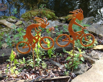 Metal BIKERPELLI KOKOPELLI Garden Stake Yard Decor