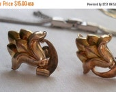 1 DAY SALE K Gold Filled On Silver Screw On Earrings. C A