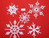 Crocheted Snowflakes - set 6