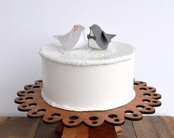 Paper Birds Wedding Cake Topper