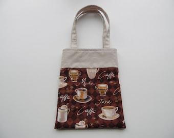 Handmade Fabric Coffee Gift/Goodie Bags - Coffee - Java -  Mocha