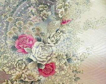 Handmade 10inch Silk Kimono Peacock Clutch/Purse/Bag.Rose/Cherry Blossom Bouquet/Long Island Wedding/Bride/Aqua Lavendar/Pink/Shawl/Scarf