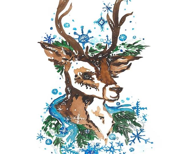 Print of Dancer one of Santa's Reindeer