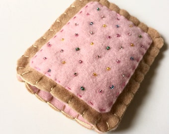 The Original Toaster Pastry Pill Case Birth Control Cozy -  (strawberry multi sprinkle)