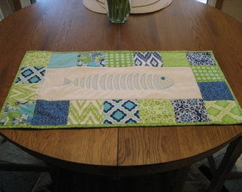 Bright and Beachy Quilted Tablerunner - ON SALE!!!!