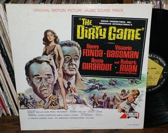 The Dirty Game RARE Vintage Vinyl Soundtrack 1965 Original Laurie Pressing
