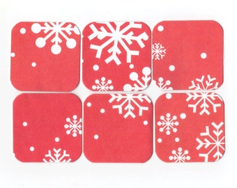 SALE Christmas Mini Note Cards (set of 6) CMN4 / Ready To Ship