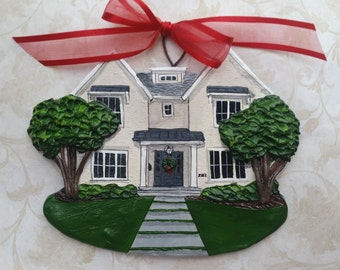 Custom Listing for- StarBuckLover- five Custom House Ornaments- a delightful replica of your home