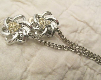 Vintage Sweater Clip / sweater guard Rhinestones