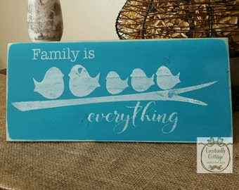 Handpainted Family is Everything sign