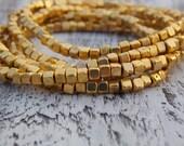 Gold Beaded Bracelets Set of 5 Stack Bracelets Stretch Gold Boho Bohemian Layering Beaded Metallic Metal Bead Stretch Bracelets