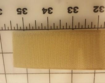 """Tan Beige Velcro Hook Only 1-1/2"""" wide BTY"""