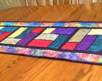Table Runner, Stained Glass