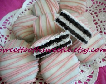 Pink Chocolate Covered Oreos Cookies Pink Baby Shower Favors Birthday Party Favors It's A Girl Baptism Christening Gender Reveal Cookies