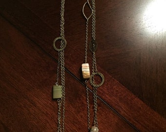 Stacked bohemian necklace