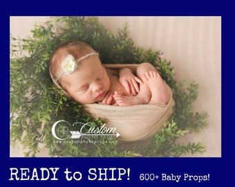 RTS Newborn Photo Prop, 100 Colors, Stretch Baby Wrap Photography Props, Sparrow Lux Knit for Swaddling, Baby Photography Props, Tan, Brown