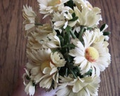 Vintage Millinery Flowers, Daisies, Pale Yellow