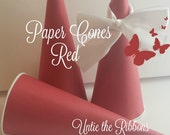 RESERVED CUSTOM LISTING for heehee Red Paper Cones - Birthday, Party, Standard (30 count)