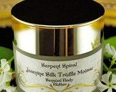 Jasmine Silk TRUFFLE MOUSSE sensual organic edible whipped body butter