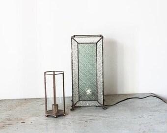 vintage GYPSY CARAVAN glass and brass lantern lights