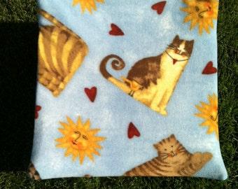 Cat and hearts hammock