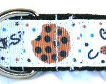 1 inch greyhound martingale dog collar, chocolate chip, got cookies, Sesame Street, cartoon--Cookie Monster