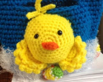 Adorable Chick Easter Basket Crocheted