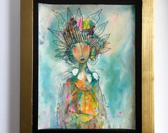 Sun Stories - Framed 11 x 14 Original Painting