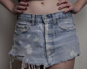 Distressed Denim Levi skirt